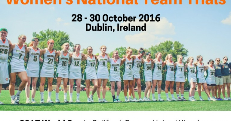 Irish Women's Senior Team Tryouts for 2017 World Cup announced!